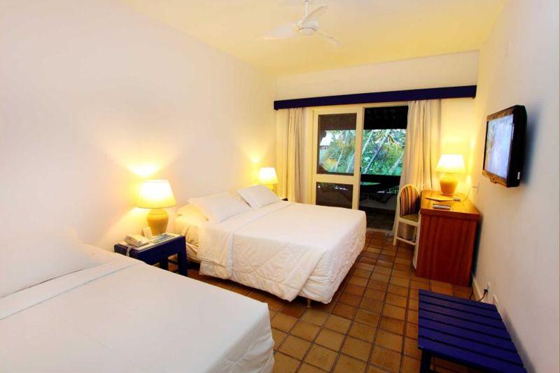 Apartamento Standard com duas camas casal e televisão
