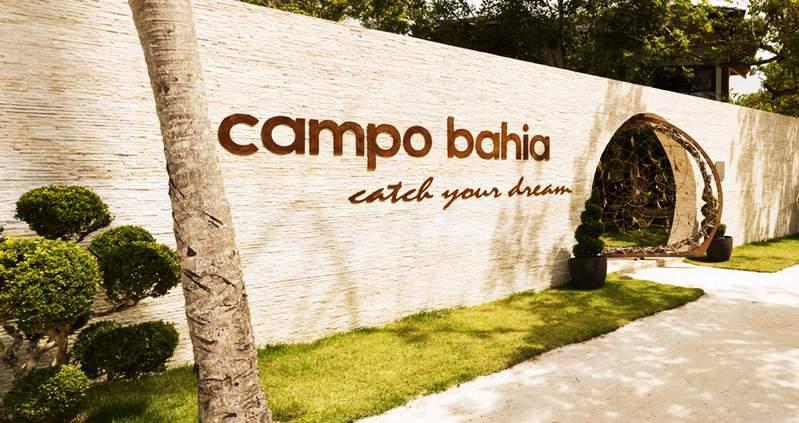 Fachada Campo Bahia com decoração charmosa