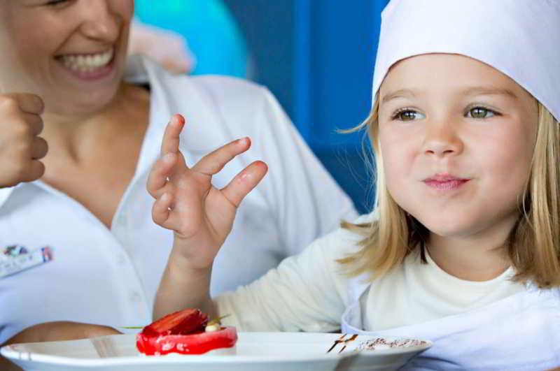 Aulas de gastronomia para as crianças