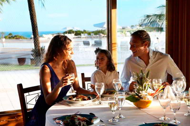 Jantar preparado para família do Club Med
