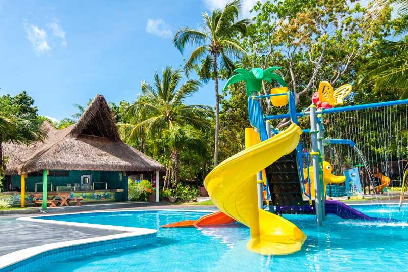 Playground para crianças se divertirem na água do tivoli