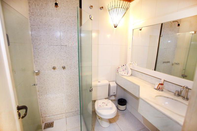 Detalhes do banheiro da acomodação