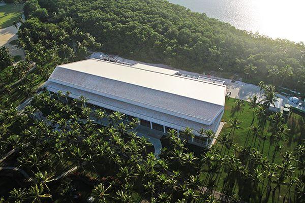 Vista áerea da estrutura principal onde localizam o centro de convenções