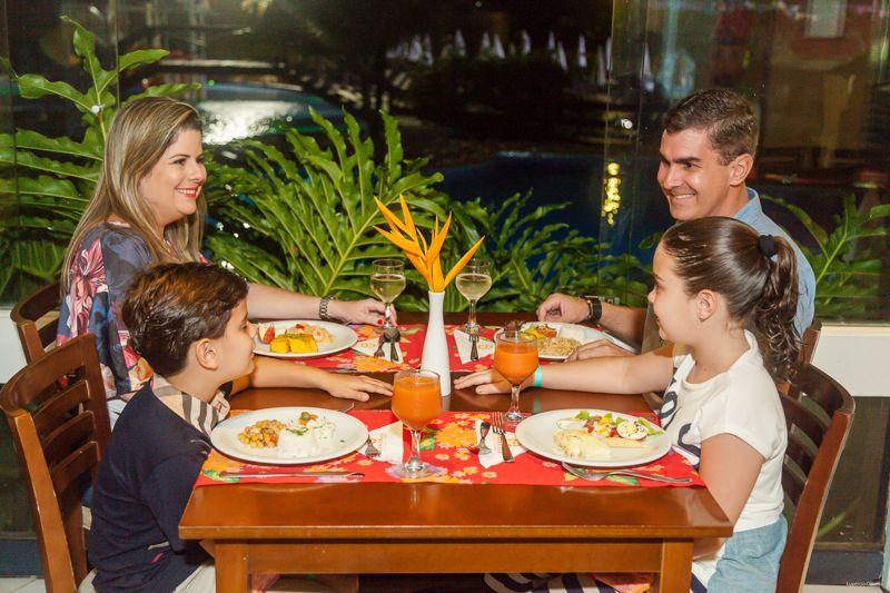 O jantar em família no Cana Brava se torna mais prazeroso