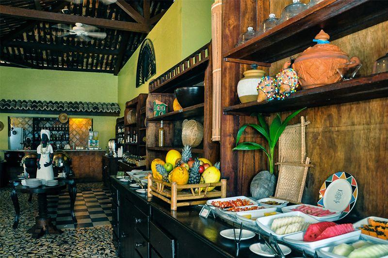 Detalhes da cozinha com gastronomia Baiana