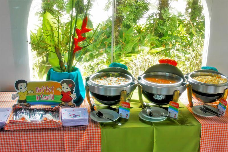 Gastronomia trazendo variadas refeições para publico infantil