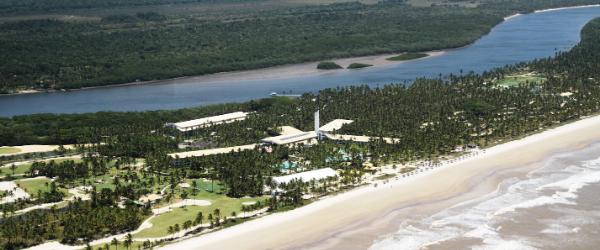 Vista aérea Ilha de Comandatuba