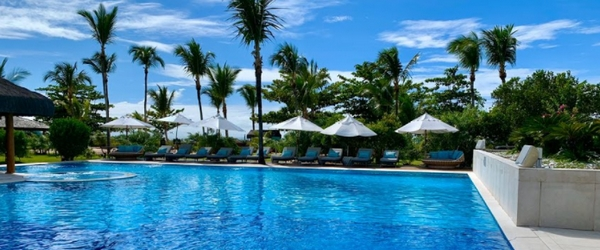 A linda piscina do Campo Bahia