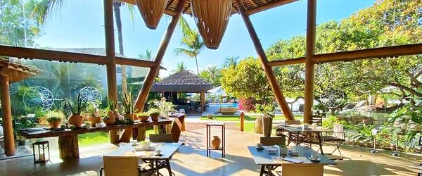 Vista do restaurante Flor de Caju, do Campo Bahia